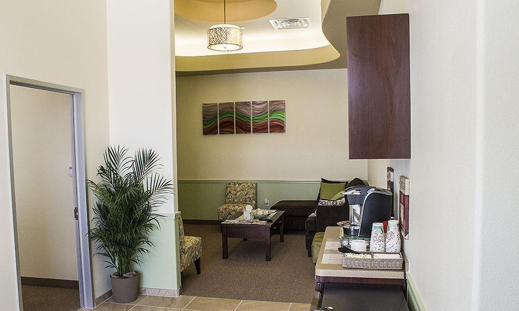 waiting room with free coffee | dental office prosper tx