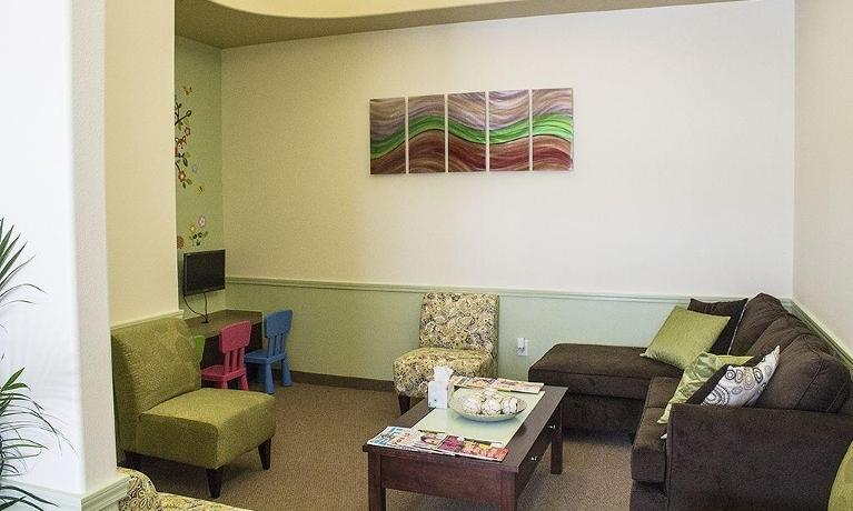 waiting room prosper family dental